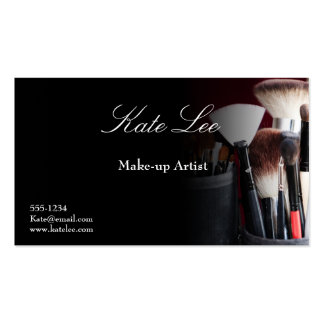 Schwarze Make-upbürste Cosmetology-Visitenkarten Visitenkarten