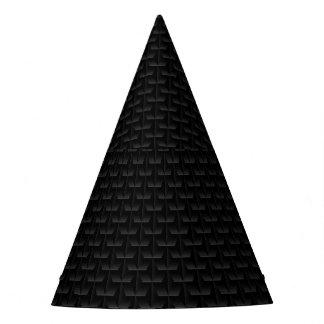 Schwarze Masche 3D Partyhütchen