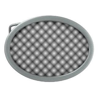 Schwarze Maschen-weiße Ball-Wässerung Ovale Gürtelschnallen