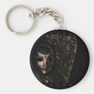 Schwarze Maske Schlüsselanhänger