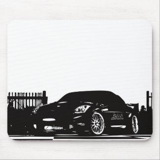 Schwarze Mausunterlage Nissans 350Z Mousepad