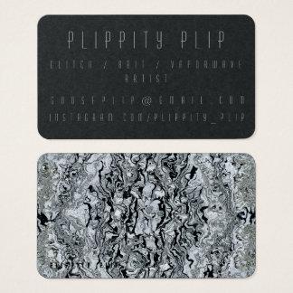 Schwarze Mercury-Soul-Geschäfts-Karte Visitenkarte