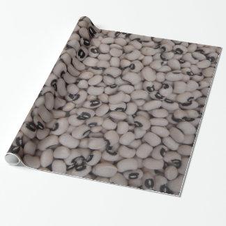 schwarze mit Augen Erbsen Geschenkpapier