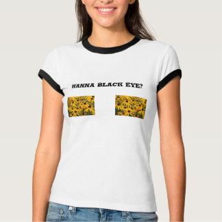 Schwarze mit Augen Susan T-Shirt