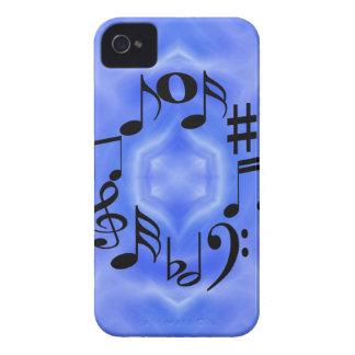 Schwarze Musik-Anmerkungs-Schlüssel iPhone 4 Case-Mate Hülle
