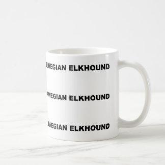 schwarze norwegische elkhound Liebe Kaffeetasse