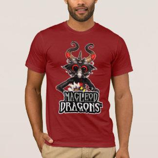 Schwarze OM T - Shirt, Moosbeere Drache MD T-Shirt