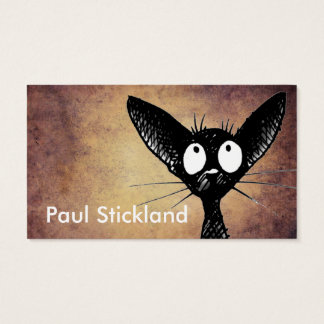 Schwarze orientalische Katzen-Kunst Visitenkarte