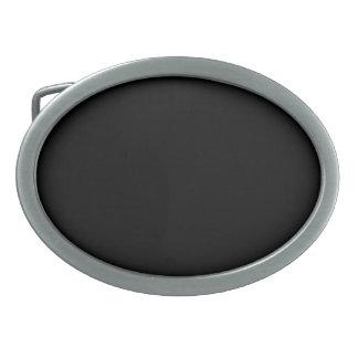 Schwarze ovale Gürtelschnalle
