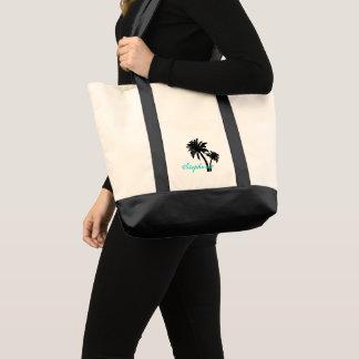 Schwarze Palme-personalisierte Tasche