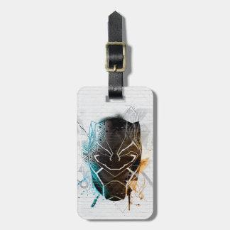 Schwarze panther-Straßen-Kunst des Panther-| Gepäckanhänger