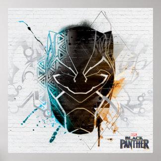 Schwarze panther-Straßen-Kunst des Panther-| Poster