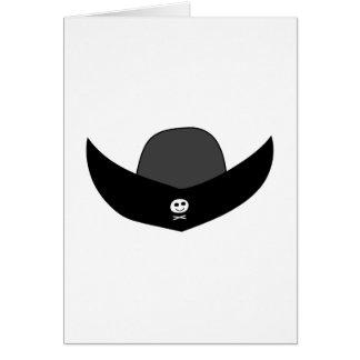 Schwarze Piraten-Hut-Illustration Karte