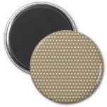 schwarze punkte polka dots gepunktet punktiert tup runder magnet 5,7 cm