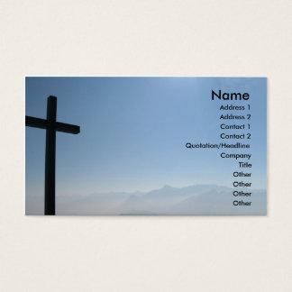 Schwarze QuerVisitenkarte Visitenkarte