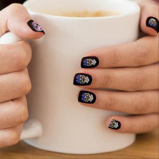 Schwarze Radfahrer-Süßigkeits-Schädel-Nägel Minx Nagelkunst