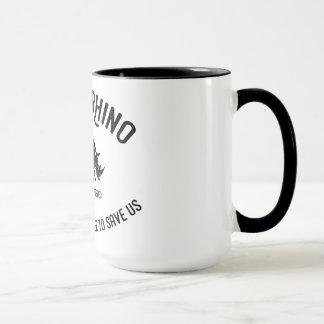 Schwarze Rhinotierschutz-Tasse Tasse