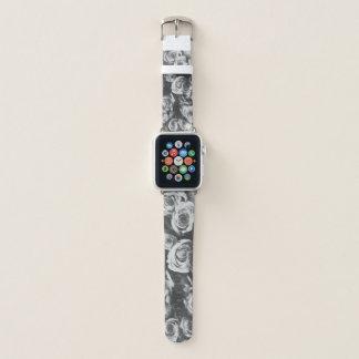 Schwarze Rosen Apple Watch Armband