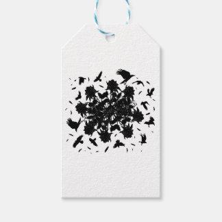 Schwarze Rosen und Raben Geschenkanhänger