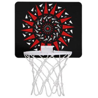 Schwarze Rot-Spiralen-ährentragender runder Mini Basketball Netz