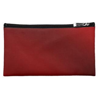 SCHWARZE ROTE mittlere kosmetische Tasche