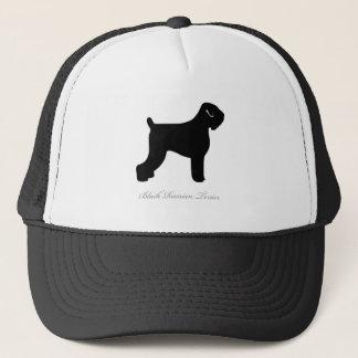 Schwarze russische Terrier-Silhouette Truckerkappe