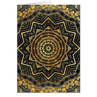 Schwarze Saphir-Mandala Karte