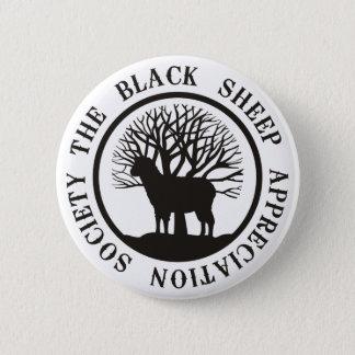Schwarze Schaf-Anerkennungs-Gesellschaft Runder Button 5,7 Cm