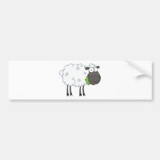 Schwarze Schaf-Cartoon-Charakter Autoaufkleber