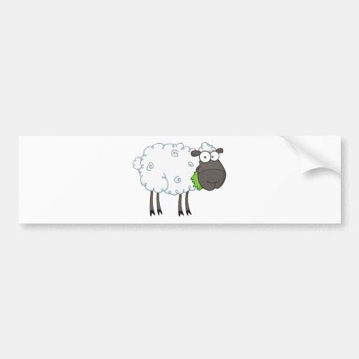 Schwarze Schaf-Cartoon-Charakter Auto Aufkleber