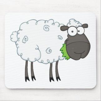 Schwarze Schaf-Cartoon-Charakter Mousepads