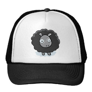 Schwarze Schaf-Hut Retrokultkappen