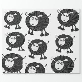 Schwarze Schaf-Packpapier Geschenkpapier