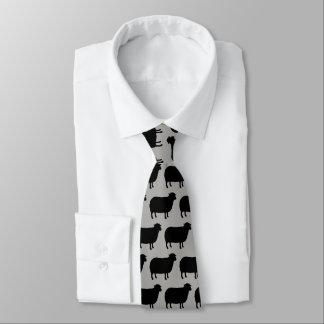 Schwarze Schaf-Silhouette-Muster Individuelle Krawatten