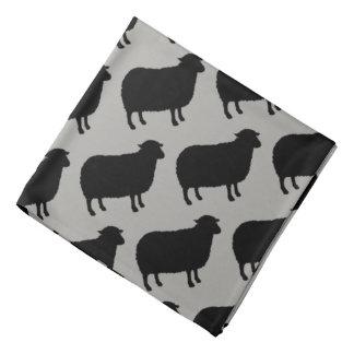 Schwarze Schaf-Silhouette-Muster Kopftuch