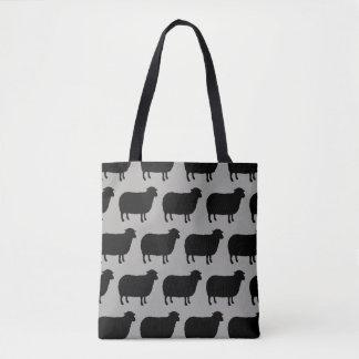 Schwarze Schaf-Silhouette-Muster Tasche