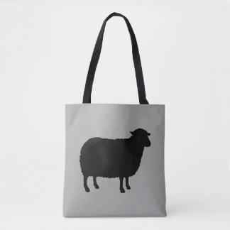 Schwarze Schaf-Silhouette Tasche