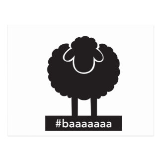 Schwarze Schafe #baaaaa Postkarte
