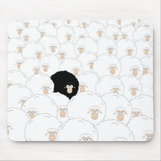 Schwarze Schafe Mousepad