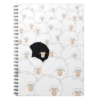 Schwarze Schafe Notizblock
