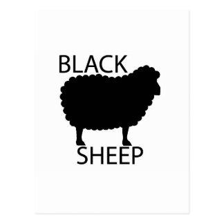 Schwarze Schafe Postkarte