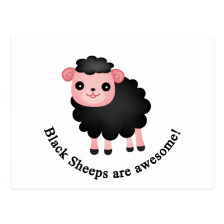 Schwarze Schafe sind fantastisch Postkarte