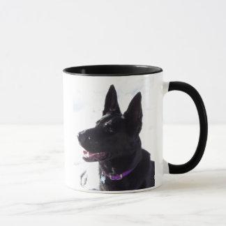 Schwarze Schäferhund-Tasse Tasse