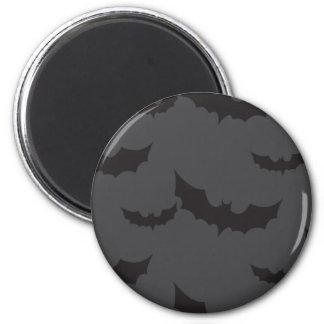 Schwarze Schläger auf dunkelgrauem Hintergrund Runder Magnet 5,1 Cm