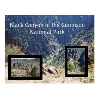 Schwarze Schlucht der Gunnison Reise-Postkarte Postkarte