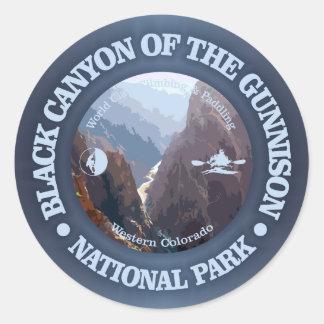 Schwarze Schlucht des Gunnison NP (c) Runder Aufkleber