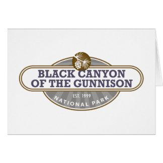 Schwarze Schlucht Gunnison Nationalpark Karte