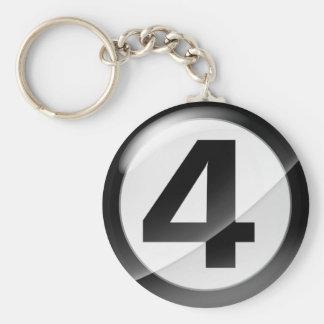 Schwarze Schlüsselkette der Nr.-4 Schlüsselanhänger