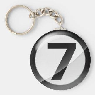Schwarze Schlüsselkette der Nr.-7 Schlüsselanhänger