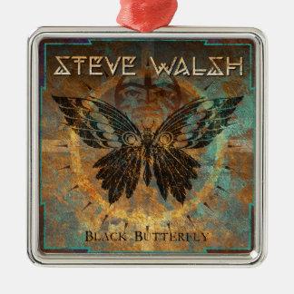 Schwarze Schmetterlings-Verzierung Silbernes Ornament